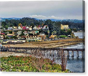 Canvas Print featuring the photograph California Coastal Town by Kathy Churchman