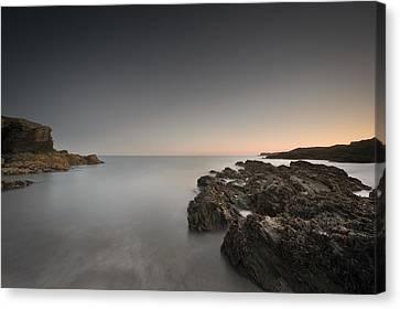 Coastal Twilight Seascape Canvas Print by Andy Astbury