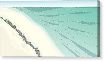 Coastal Wash Canvas Print by Kevin McLaughlin