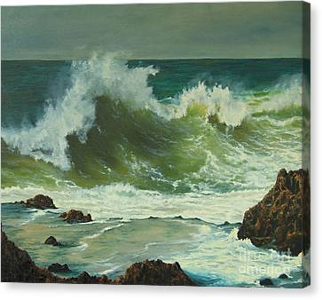 Coastal Water Dance Canvas Print by Jeanette French