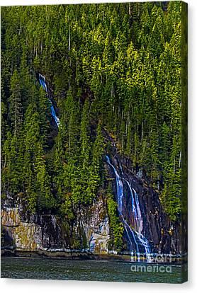 East Cracoft Island Canvas Print - Coastal Waterfall by Robert Bales