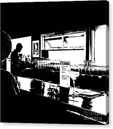 Coastal Wine Bar Canvas Print by Connie Fox
