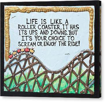 Fill Canvas Print - Coaster Quote by Joe Kopler