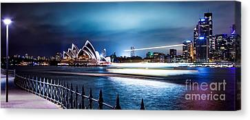 Coasting On The Harbour Canvas Print