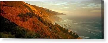 Big Sur California Canvas Print - Coastline At Dusk, Big Sur, California by Panoramic Images