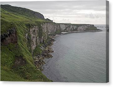 Coastline Carrick-a-rede Northern Ireland Canvas Print by Betsy Knapp