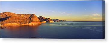 Coastline, Gulf Of California, Baja Canvas Print by Panoramic Images
