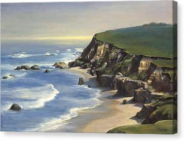 Coastline Half Moon Bay Canvas Print by Terry Guyer