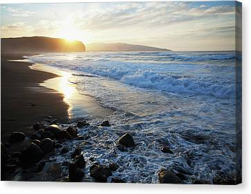 Coastline Of An Island In Portugal Canvas Print by Carl Bruemmer