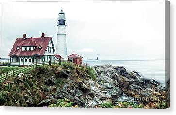 Coastline Sentinel Canvas Print by Arnie Goldstein