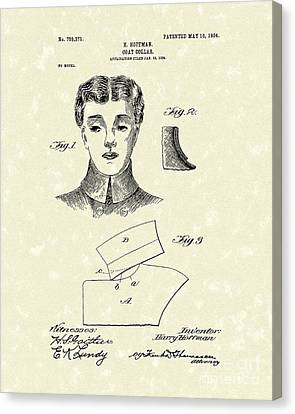 Coat Collar 1904 Patent Art Canvas Print by Prior Art Design