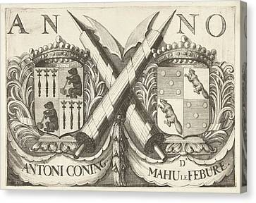 Coat Of Arms Of Antoni Coning Mayor Of Haarlem And Mahu Le Canvas Print
