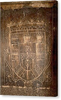 Coat Of Arms Symbol Dated 1629 Canvas Print by Susan Degginger