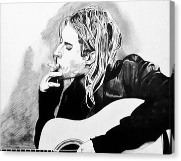 Cobain Canvas Print by Jeremy Moore