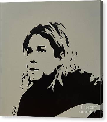 Cobain Spray Art Canvas Print