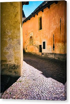 Canvas Print featuring the photograph Cobbled Street by Silvia Ganora