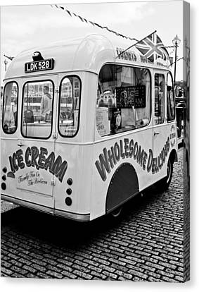 Canvas Print featuring the photograph Cobbles Ice Cream by Michael Hope