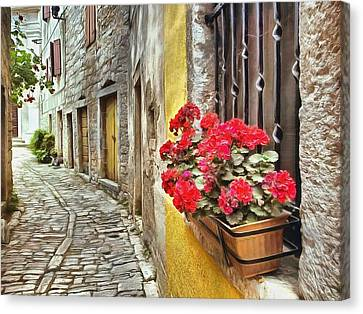 Cobblestone Streets Of Bale Canvas Print by Maciek Froncisz