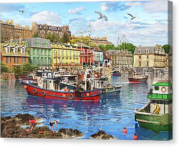 Trawler Canvas Print - Cobh Harbour by Dominic Davison