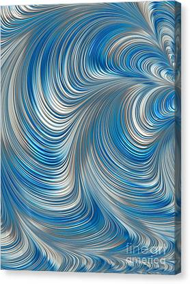Metalic Canvas Print - Cobolt Flow by John Edwards