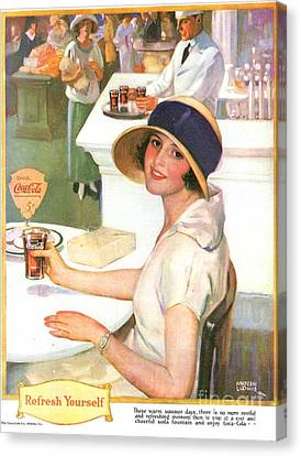 Coca-cola 1920s Usa Canvas Print by The Advertising Archives