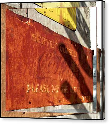 Coca Cola And Rust - Route 66 Canvas Print by Glenn McCarthy Art and Photography
