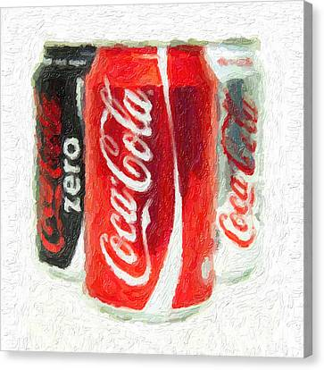 Coca Cola Art Impasto Canvas Print by Antony McAulay
