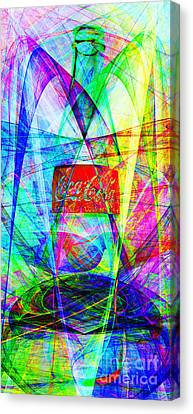 Vintage Soda Bottles Canvas Print - Coca Cola Bottle 20130621di Long by Wingsdomain Art and Photography
