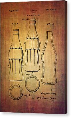 Coca Cola Bottle Patent From 1937 Canvas Print by Eti Reid