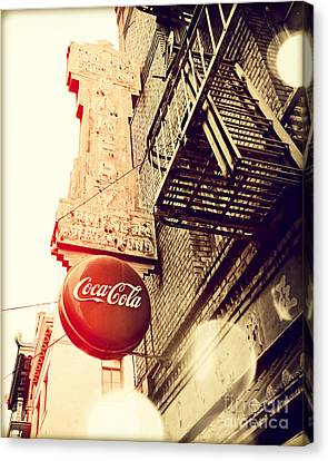 Coca Cola Canvas Print by Chris Andruskiewicz