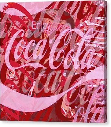 Coca-cola Collage Canvas Print by Tony Rubino