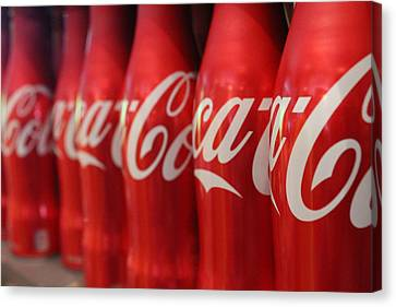 Coca Cola  Canvas Print by Jennifer Papa