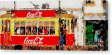 Coca Cola On Wheels Canvas Print by Mary Machare