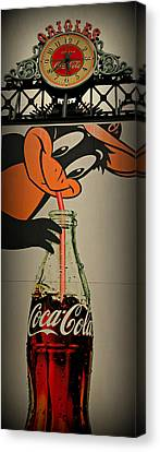 Coca Cola Orioles Sign Canvas Print by Stephen Stookey