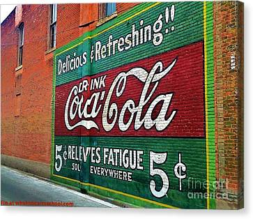 Coca Cola Canvas Print