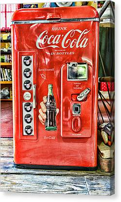 Coca-cola Retro Style Canvas Print