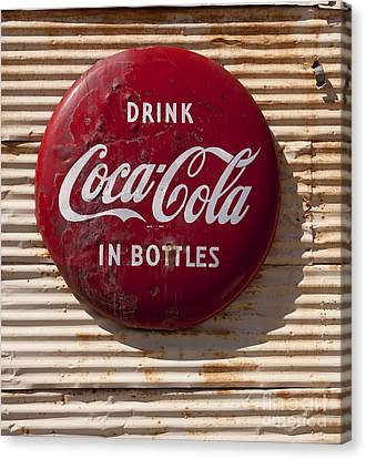 Coca Cola Sign   #0636 Canvas Print by J L Woody Wooden