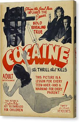Cocaine Movie Poster Canvas Print by Jon Neidert