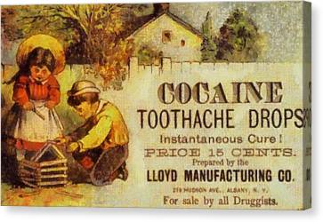 Drop Canvas Print - Cocaine Toothache Drops by Dan Sproul