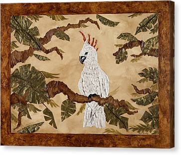 Cockatoo Out On A Limb Canvas Print