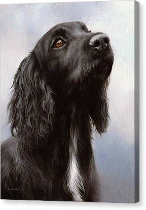 Cocker Spaniel Painting Canvas Print by Rachel Stribbling