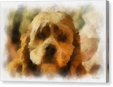 Cocker Spaniel Photo Art 03 Canvas Print by Thomas Woolworth