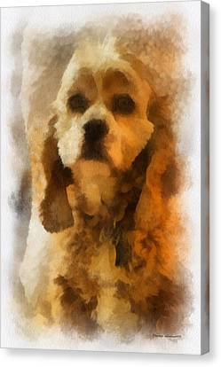 Cocker Spaniel Photo Art 04 Canvas Print by Thomas Woolworth