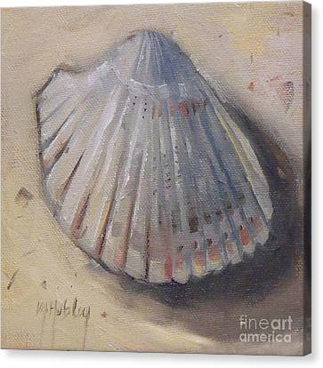 Cockle Shell Beach Seashell Canvas Print by Mary Hubley