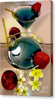 Cocktail By The Spa Canvas Print by Kaye Menner