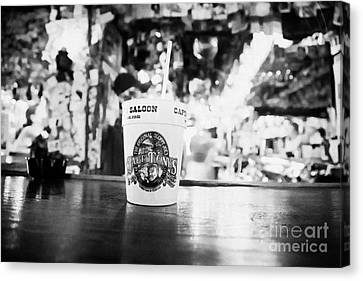Cocktail Drink On The Bar Of Captain Tonys Saloon Site Of The Original Sloppy Joes Bar Frequented By Canvas Print