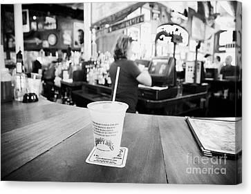 Cocktail Slushie Drink In Sloppy Joes Bar Duval Street Key West Florida Usa Canvas Print by Joe Fox