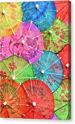 Cocktail Umbrellas Vi Canvas Print by Tom Mc Nemar
