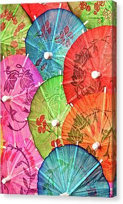 Cocktail Umbrellas Vii Canvas Print by Tom Mc Nemar