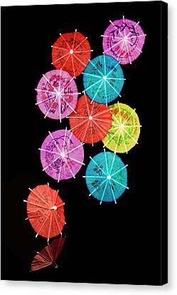 Cocktail Umbrellas Viii Canvas Print by Tom Mc Nemar